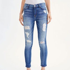 New! 7 for all Mankind ANKLE SKINNY WITH DESTROY